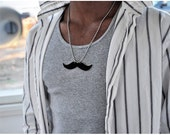 My Little Moustache Necklace in Black, The Gentlemans Stache