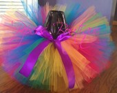 PRIVATE LISTING for CHARLEAH-Rainbow Brite Tutu Set with matching headband