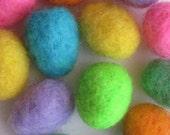 Miniature Bright Easter Eggs - Needle Felted - Baker's Dozen