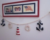 Reserved Listing for Tariq Alabdooli - Nautical Garland - Anchor, Life Preserver and Lighthouse