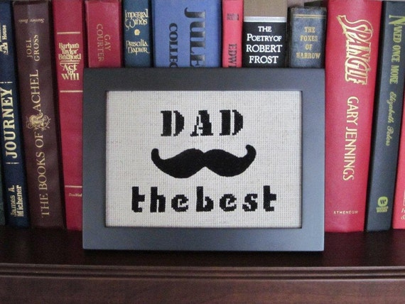 Fathers Day Gift - Framed Wool Mustache