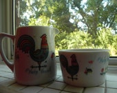 1970s Help Thyself Porcelain China Cream and Sugar Set