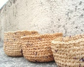 3 PLARN Baskets & Planters- Donating 20 % of all sales to Japan relief efforts