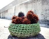 Oxidized Green PLARN Basket