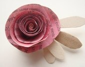Upcycled Rose Bud- FREE shipping with two or more items