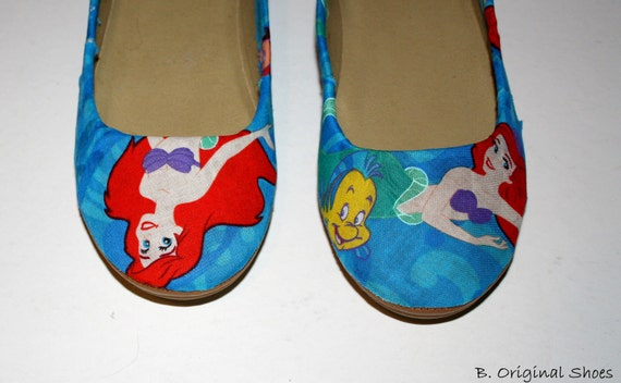 Disney Ariel Princess fabric flats