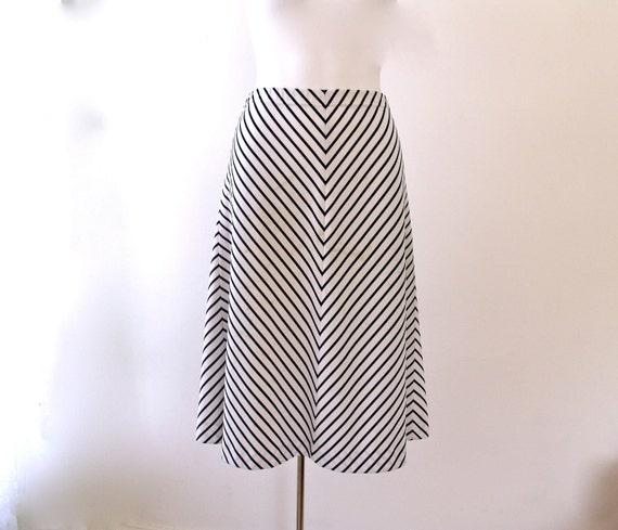 Vintage Nautical Striped Swing Skirt