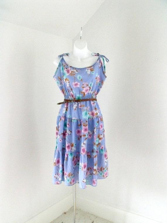 Vintage Plus Size 1970's Swing Halter Dress