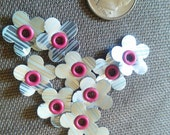 Upcycled Soda Can Flowers - Tiny Flowers - Aluminum Flowers - Recycled Craft Supplies - Scrapbooking Supplies