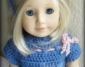 American Girl Doll Matching Crochet Vintage Twist on the Classic Navy Girls Dress Pattern