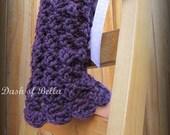 Victoria Crochet Girls Leg Warmers Pattern
