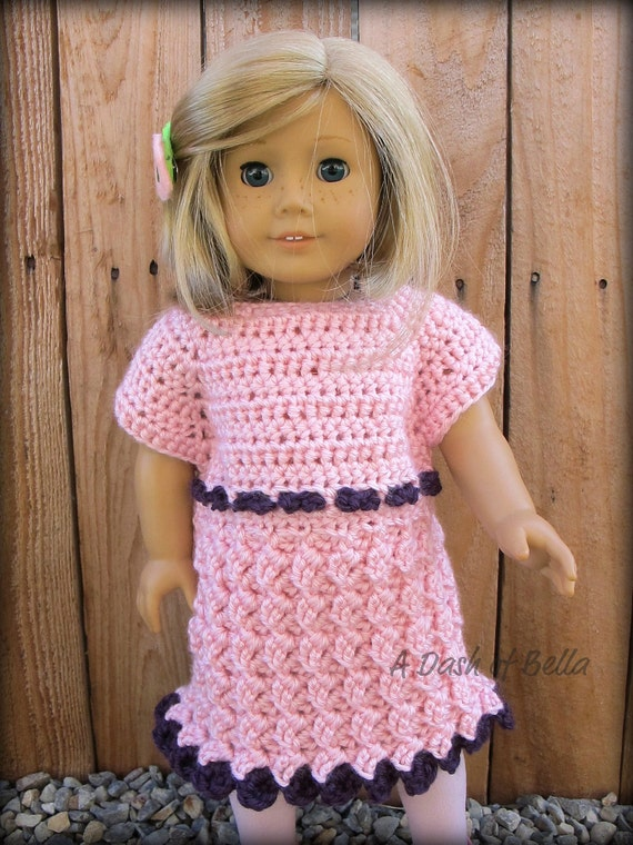 American Girl Doll Party Dress Crochet Pattern by ADashofBella