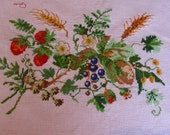 Cross-Stitch  HandMade  Strawberry Fields