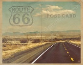"Fine Art-""Vintage Postcard (Route 66)"" 8x10 Metallic Photographic Print"