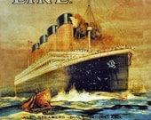 "Fine Art-""Titanic Advertisement"" 8x10 Professional Metallic Print"