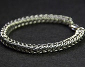 Chainmaille stainless steel box chain bracelet. Man's bracelet. Men's stainless steel jewellery.
