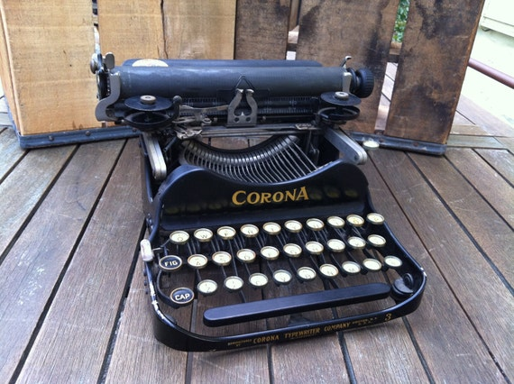 RESERVED for ment4me: Corona No. 3 Portable Folding Typewriter