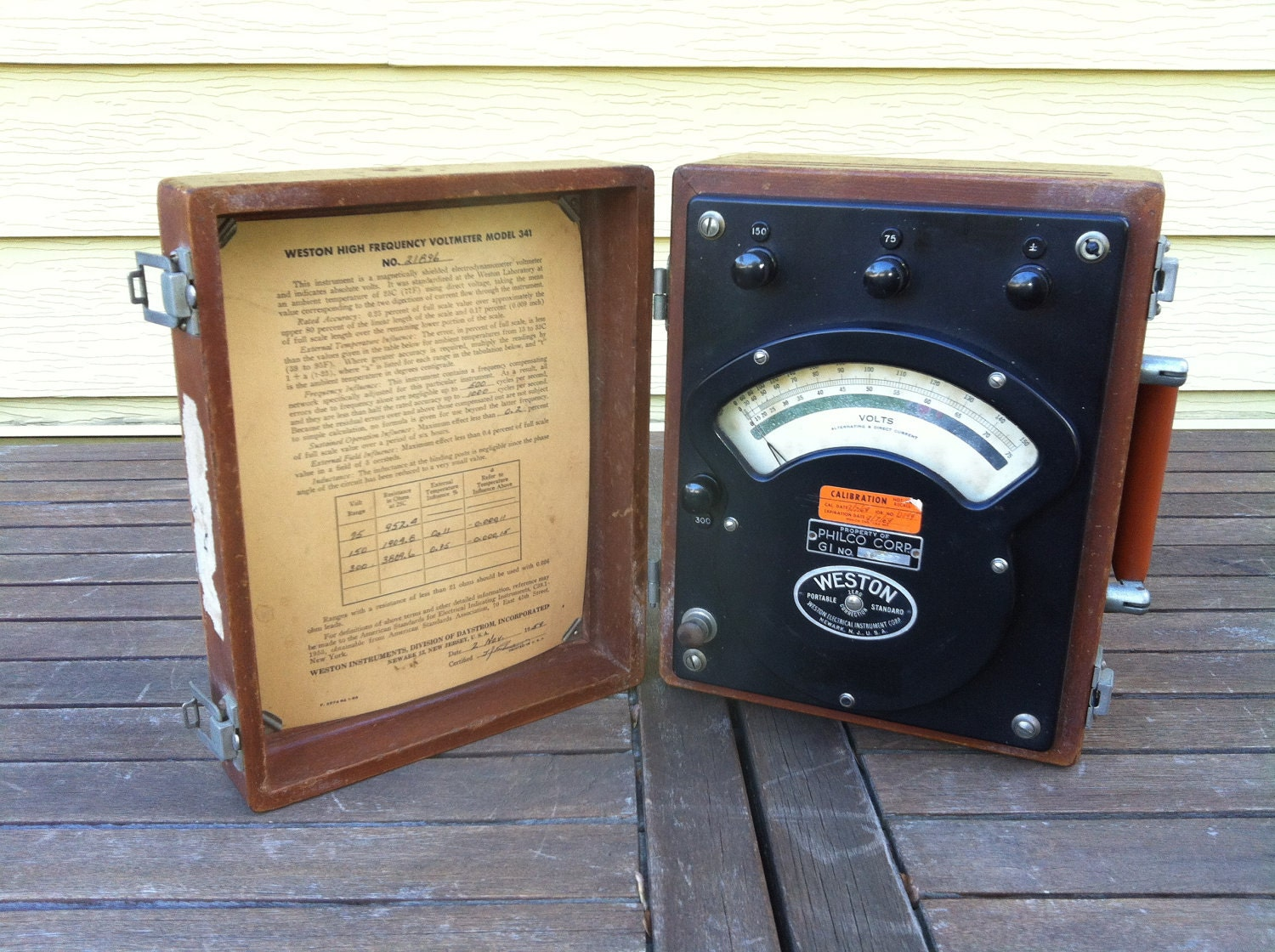 High Frequency Voltmeter : Weston high frequency voltmeter model by salvageandco