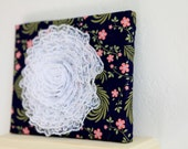 Lace and Floral Retro Canvas Wall Decor 8 x 10