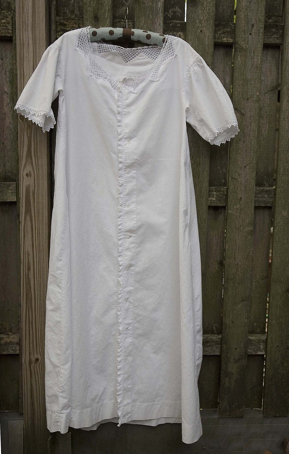 Vintage White Cotton Nightgowns And Dress