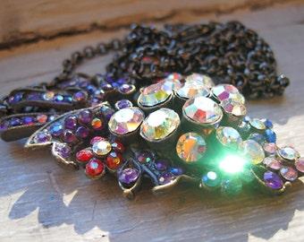 Upcycled Long Aurora Borealis Necklace