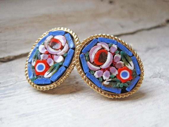 Upcycled Micromosaic Earrings