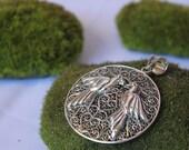 Sterling Silver Filigree Love Bird Pendant
