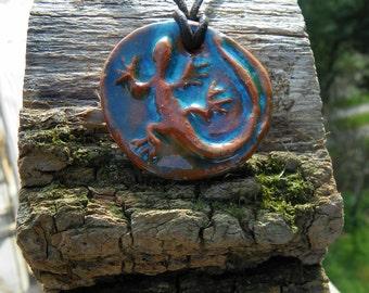 Lizard Ceramic Pendant