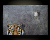 What Do Tigers Dream Of- 24x36 Realistic Acrylic Painting