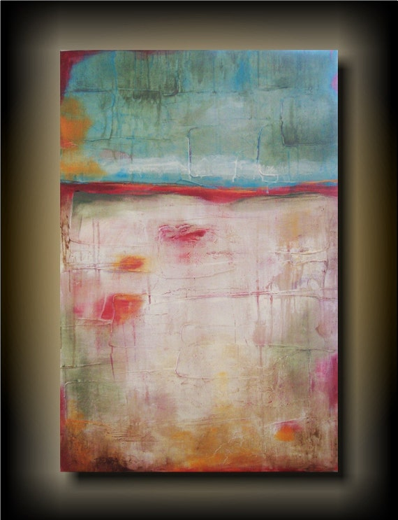 Worn Away- 24x36 HIGH END CONTEMPORARY Textural Abstract original painting