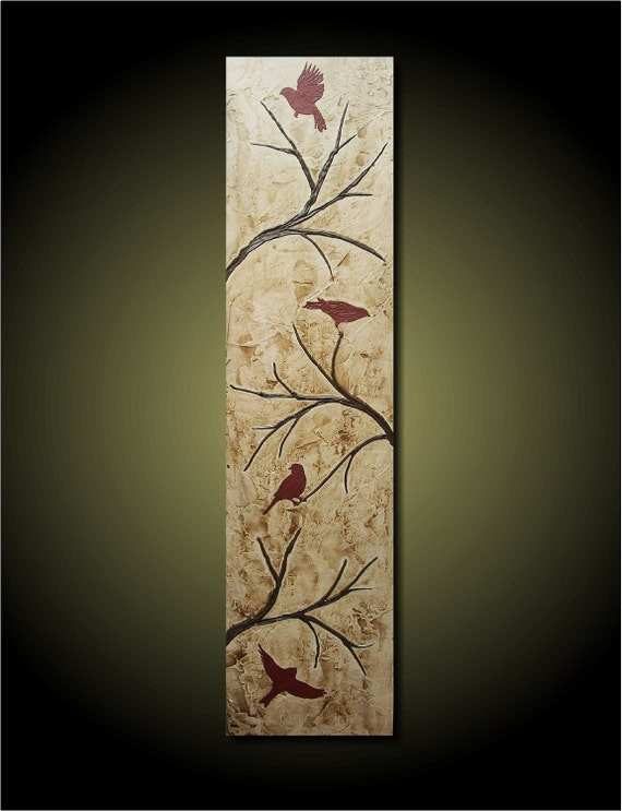 custom order for christina 12x24 four birds