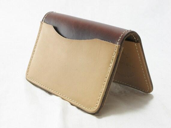 Slim Card wallet - horsehide and calfskin