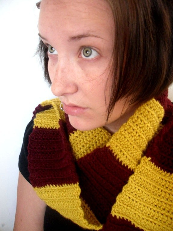 Striped House Scarf - You Choose From 4 House Colors - Winter Warm Accessories by JulianBean