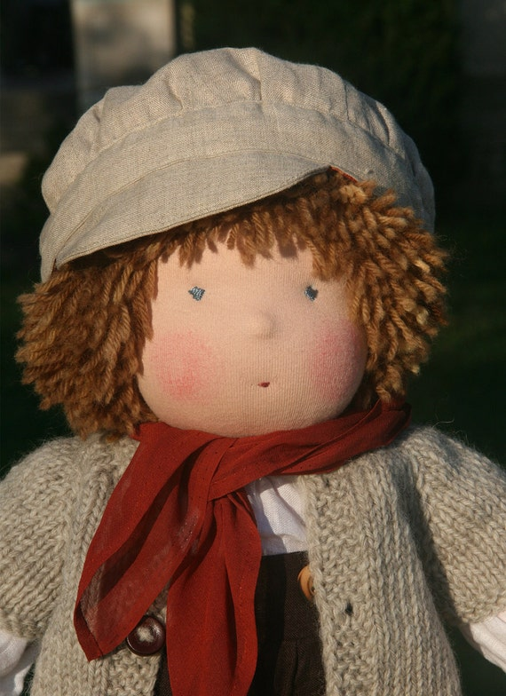 Organic Waldorf Doll 20 inch - Pierre - RESERVED for Anna