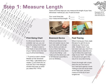 Measurements and Sizing Info and Chart