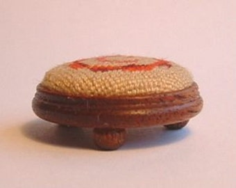Dollhouse Miniature Button Footstool Kit in 1/12th scale
