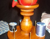 Antique reproduction pin cushion and spool holder