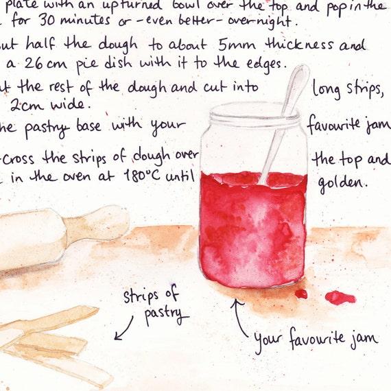 Your Favourite Jam Crostata Illustrated Recipe