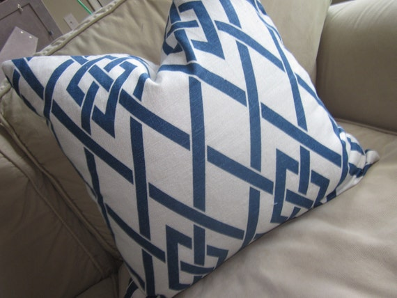 Beautiful geometric designer pillow cover, fabric on both sides