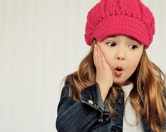Girls Newsboy Cap--- Chunky Sparkle