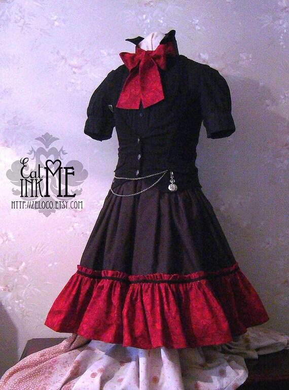 Gothic steampunk lolita skirt
