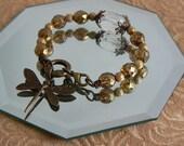 Beaded Dragonfly Bracelet
