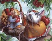 Cherry-picking Mice Print