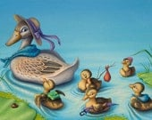 Ducklings on the Move - Original Painting