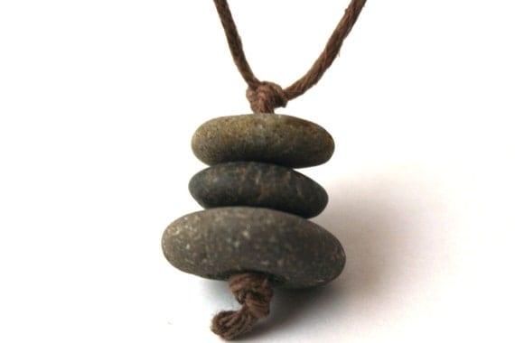 Cairn Stone Necklace - Minimalist