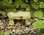 Miniature Fairy Garden Stone Bench Miniature Mossy stone Bench Miniature Bench