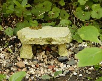 Miniature Fairy Garden Stone Bench Miniature Mossy stone Bench Miniature Bench