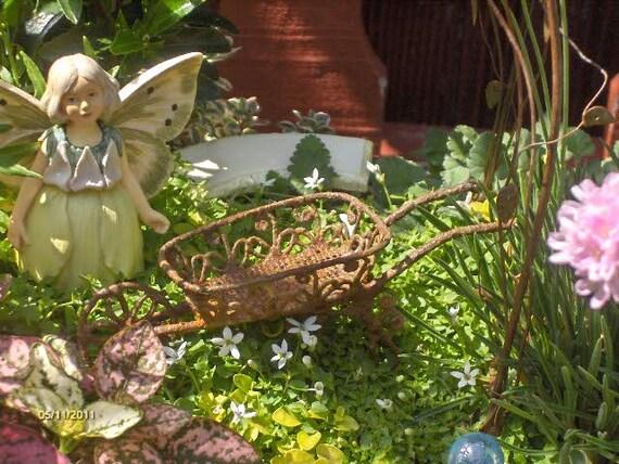 Wheelbarrow for Fairy Garden Miniature Wheelbarrow Miniature Accessories