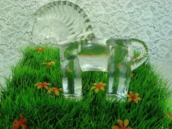 Kosta Boda Sweden Zoo series -Horse- Art glass figurine