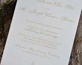 Wedding Invitation Suite Deposit (regal)
